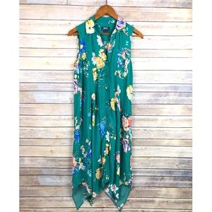 Anthropologie | Maeve Rory Floral Shirt Dress Sz 2